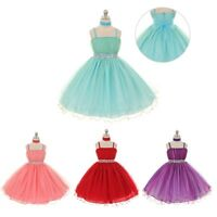 Flower Kids Girl Tutu Dresses Wedding Party Dress Age 3 5 6 7 8 9 10 11 12Y LOT