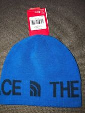 NWT Adult The North Face Reversible TNF Banner Beanie Blue Hat $25