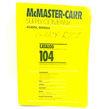 Vintage McMaster Carr Supply Co. Catalog No 104 Atlanta Georgia