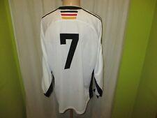 """L'ALLEMAGNE """"écusson"""" Nº 473 Adidas manches longues matchworn maillot 1998 + Nº 7 Taille XL Top"""