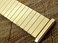 Mens Stainless Steel Unused Expansion Nos Twist-On Vintage Watch Band 16mm-19mm