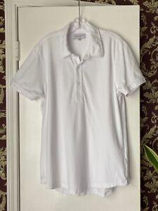 $195 ORLEBAR BROWN - Men's XXL - Sebastian Tailored Fit White Cotton Polo Shirt