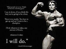 Arnold Schwarzenegger Inspiration Bodybuilding poster 17 inch x 13 inch