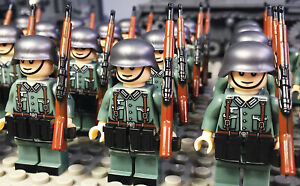 WW2 Custom Minifigure Pad Print German rifle weapon fit Lego UK Seller