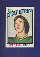 Tim Young RC 1976-77 O-PEE-CHEE OPC Hockey #158 (EXMT) Minnesota North Stars