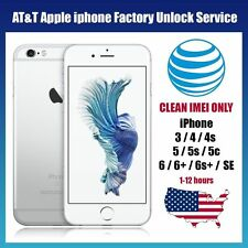 Premium FACTORY UNLOCK SERVICE CODE For All AT&T iPhone From 3 to X, Clean IMEI