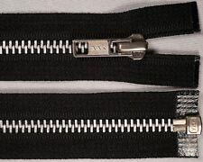 "14"" 36cm black YKK No.5 silver metal teeth OPEN END ended auto lock zips"