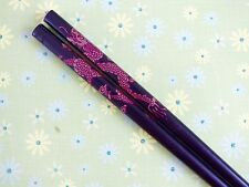 JAPANESE BLACK GOLD DRAGON HAIR CHOPSTICKS STICK PIN CHINESE WOMEN DINNER PARTY