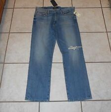 """NWT Men's 32-30 LUCKY BRAND """"410 ATHLETIC FIT"""" SLIM LEG DISTRESS JEANS MSRP $99"""