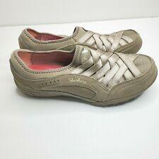 Skechers Women Size 8.5 Relaxed Fit Memory Foam Metallic Weave Comfort Shoes