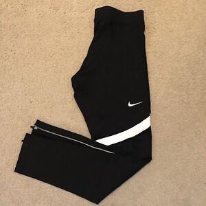 Nike Power Tech Men's Running Tights Pants Black 835955-012 Zipper Leg Sz XL NWT
