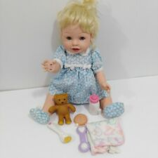 """Playmates 2000 Amazing Babies Blonde Baby Girl Doll 14"""" Interactive Cookie Spoon"""