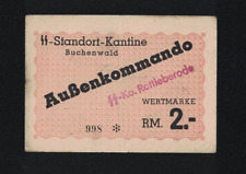 WWII GERMANY 1944 BUCHENWALD 2,- RM KL PRAMIENSCHEIN CONCENTRATION CAMP GHETTO
