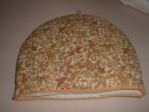 Vintage St Michael M&S Pure cotton padded TEA COSY wild flowers, berries UNUSED