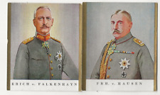 62/495 SAMMELBILD E. v. FALKENHAYN GENERAL v. HAUSEN SÄCHSISCHER GENERALOBERST
