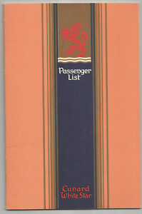 MAY 1948 RMS QUEEN ELIZABETH-WHITE STAR- LIST OF PASSENGERS- NY TO SOUTHAMPTON