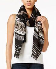 INC International Concepts Beautiful Trendy Woven Wrap Scarf Black - NWT