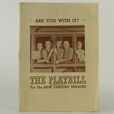 ARE YOU WITH IT? Playbill (1946) with Joan Roberts, - Great Ads, incl. Oklahoma!