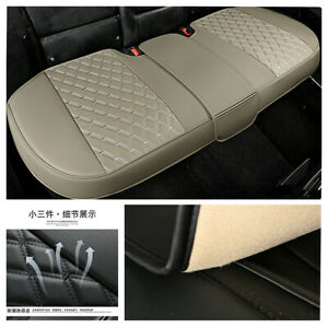 Full Surround Rear Car Seat Cover Leather Pad Mat Auto Chair Cushion Protector