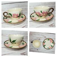 Rare Hand Painted El Rancho Floral Design Tea Cup And Saucer