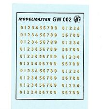 MODELMASTER GW002 GWR OO / 4mm BUFFERBEAM NUMBERS TRANSFERS / DECALS