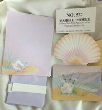 Vintage '80's OLYMPIA SEASHELL Stationery Set Notecards & Postcards & etc 60 pc