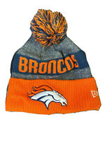 Denver Broncos New Era Knit Hat Logo Pom Beanie Stocking Cap NFL