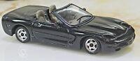 Burago 1998 Chevrolet Corvette Convertible Black with Gray Interior 1/43 Diecast