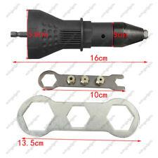 Electric Rivet Nut Gun Adaptor Insert Cordless Power Drill Tool Kit Professiona