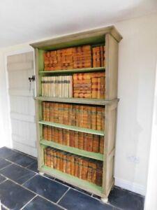 Antique painted pine bookcase