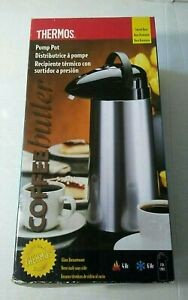 THERMOS 2 Qt. Thermal Pump Dispenser Coffee Tea Hot Cold Swivel Base