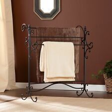 Antique Towel Rack Bath Towels Tubular Storage Stand Free Stand 3 Display Rods