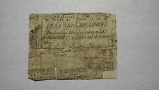 1761 Ten Shillings North Carolina NC Colonial Currency Note Bill! RARE 10s