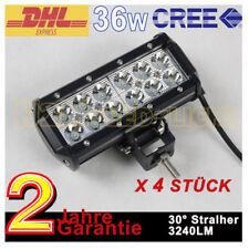 4X 36W LED Zusatzscheinwerfer Trecker Lichtleiste offroad Fahrzeug für Jeep SUV