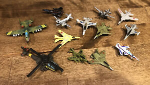 Micro Machines  - Funrise Fighter Jet Military Lot of 13 - Used Condition