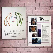 Original Movie Poster Imagine John Lennon - Size: 29x38 CM - Front and back