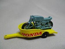 AJ830 MATCHBOX LESNEY HONDA TRAILER CYCLE REMORQUE MOTO Réf 38 BON ETAT