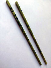 ONE Pair of Vintage Chinese Carved Green Jade Chopsticks in Gift Box