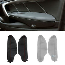 2x Front Door Panels Armrest Leather Cover For Honda Accord 8th 2008-2012 Coupe
