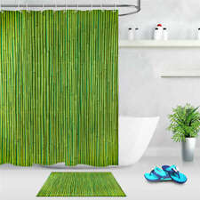Thick Bamboo Waterproof Bathroom Polyester Shower Curtain Liner Water Resistant