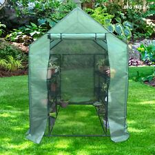 12 Shelf Green House Portable Walk In Cultivating Plants Greenhouse 57x57x77""