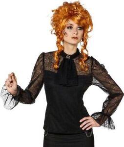 Spitzenbluse Ophelia Rüschenbluse Bluse schwarz Gothic Steampunk Piratin