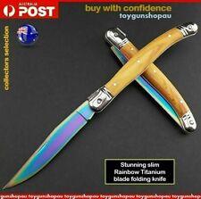 Popular Neo Rainbow Titanium Knife hunting folding pocket knife camping knife 72