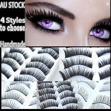 60 X False Eyelashes Natural Long Thick Handmade Extension Lashes
