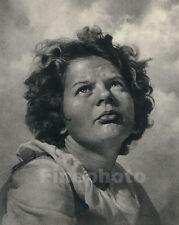 1936 Vintage ~ SURREAL CHILD Portrait Storm Weather Children ~ WILLIAM MORTENSEN