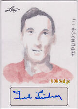 2015 MASTERWORKS ZUNO STUDIOS SKETCH AUTO: TED LINDSAY #1/1 AUTOGRAPH RED WINGS