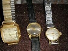 Lot de 3 anciennes montres mécaniques femme Suisses: 1 Piper 1 Du Bois et 1 Urec