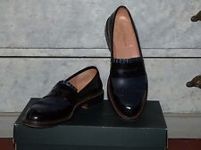 CHAUSSURES MOCASSINS BICOLORE NOIR BLEU ROBERT CLERGERIE T F 40 I 39 US 8 UK 6,5