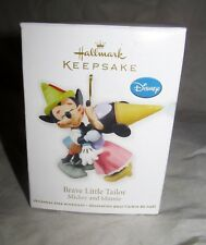 Hallmark Disney Brave Little Tailor Valentine's Day Ornament Mickey and Minnie