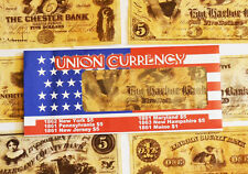 American Civil War Union Replica Currency Money Parchment Banknotes 1st Set